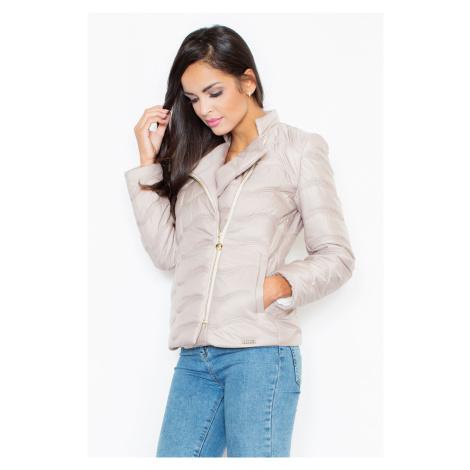 Dámská módní teplá bunda prošívaná krátká na zip