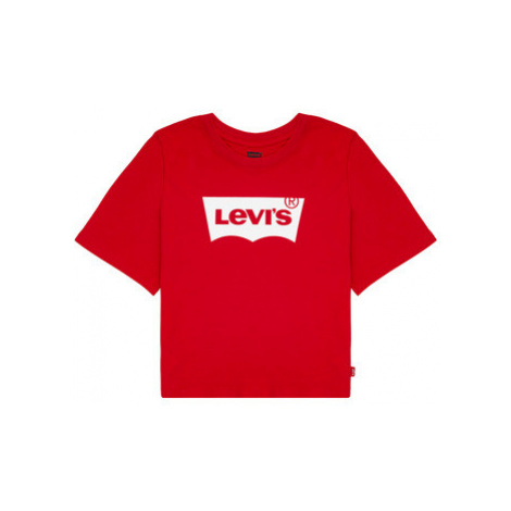 Levis LIGHT BRIGHT CROPPED TEE Červená Levi´s
