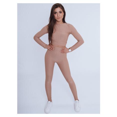 Women's sweatpants PANAMERA III beige Dstreet AY0516