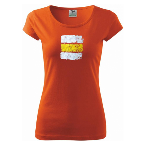 Turistická značka - žlutá - Pure dámské triko
