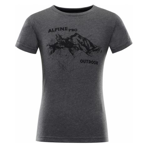 Dětské triko Alpine Pro MARVO - tmavě šedá