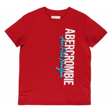 Abercrombie & Fitch Tričko 'MAY' červená / bílá / světlemodrá