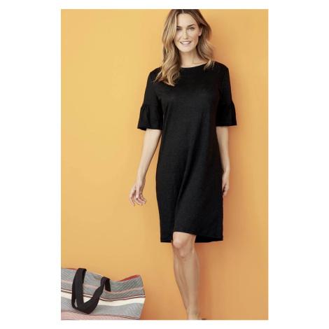 Krátké lněné šaty