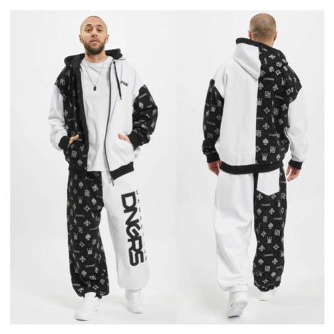 Teplákova souprava Dangerous DNGRS Half Crown & Kings Sweatsuit Black White