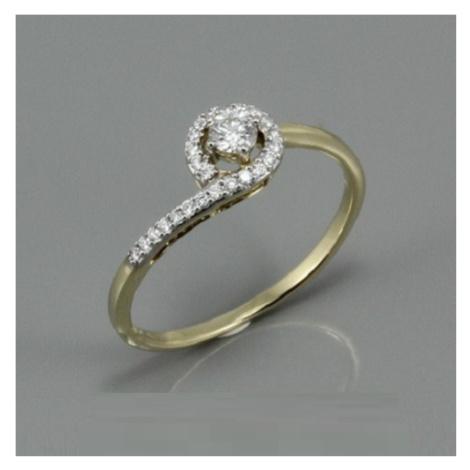 Diamantový zlatý prsten K2621