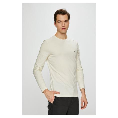 Tommy Hilfiger pánské smetanové tričko s dlouhým rukávem