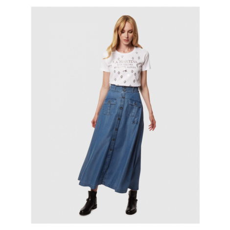 Sukně La Martina Woman Long Skirt Light Tencel - Modrá
