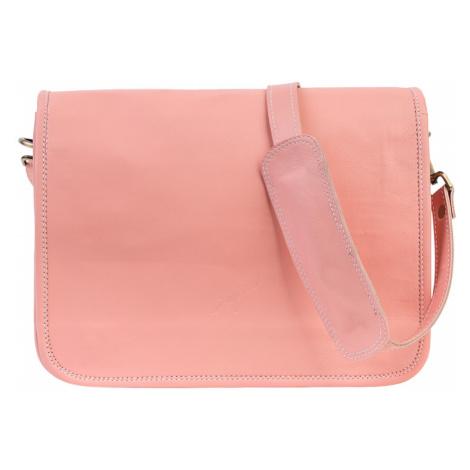 Bagind Ramen Flamingo - Dámská i pánská kožená crossbody taška růžová, ruční výroba, český desig