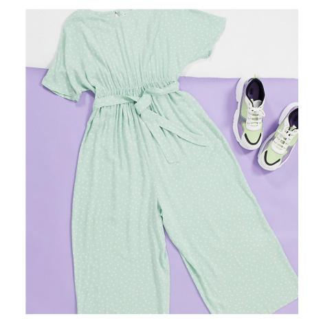 ASOS DESIGN maternity tie waist jumpsuit in spot print-Multi