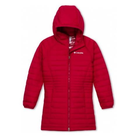 Columbia POWDER LITE GIRLS MID JACKET červená - Dívčí bunda