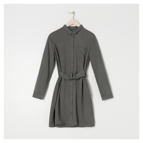 Sinsay - Dámské šaty s páskem - Zelená