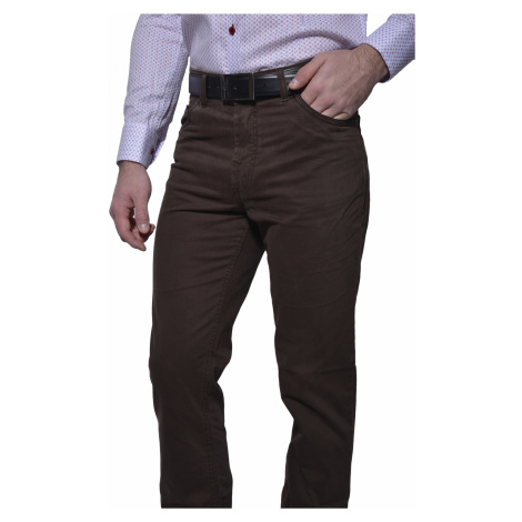 Hnedé voľnočasové nohavice Alain Delon