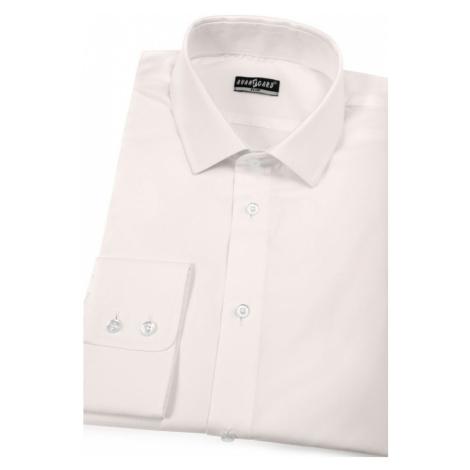 Smetanová bavlněná pánská košile SLIM - úprava EASY CARE Avantgard