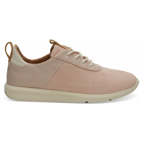 Rose Cloud Textured Velour Mix Women Cabrillo Sneak Toms