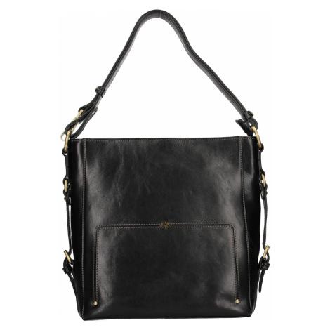 Elegantní dámská kožená kabelka Katana Darina - černá