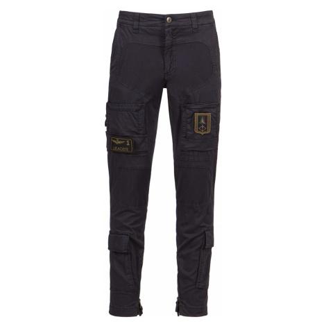 Kapsáčové kalhoty AERONAUTICA MILITARE tmavomodrá|černá