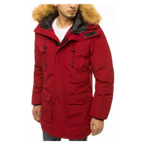 Dstreet Módní bordó zimní bunda