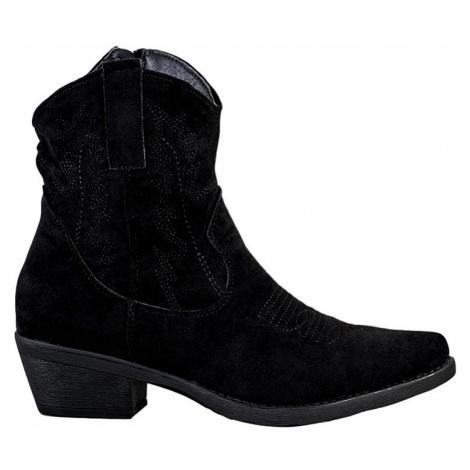 černé dámské kovbojky BASIC