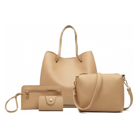 Béžový praktický dámský kabelkový set 4v1 Pammy Lulu Bags