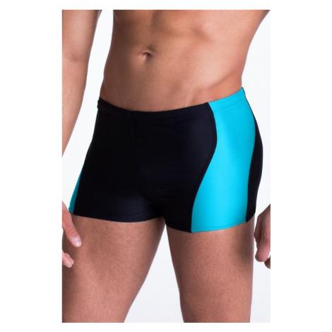 Pánské plavky boxerky Mike s modrým pruhem Primo