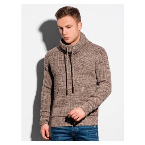 Ombre Clothing Pánský trendový béžový svetr E152