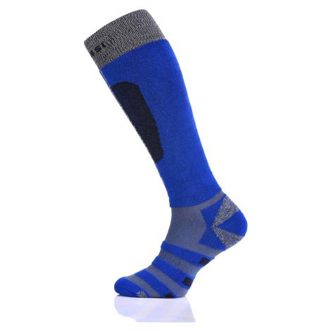 Nessi Lyžařské ponožky SN2-07 - Modrá+Šedá