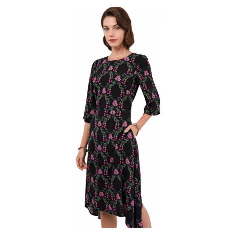 Closet London Dámské šaty Closet Hanky Hem Dress With Tie Black