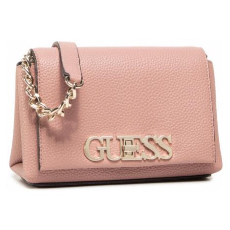 Guess GUESS dámská růžová crossbody kabelka UPTOWN CHIC MINI CROSSBODY