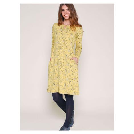 Žluté vzorované šaty Brakeburn