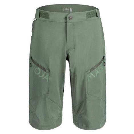 Maloja PINM tmavě zelená - Pánské šortky na kolo