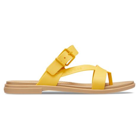 Crocs Crocs Tulum Toe Post Sandal W Canary/Tan W6