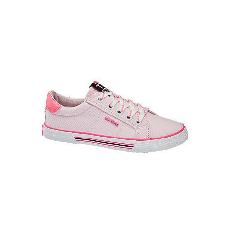 Růžové plátěné tenisky Tom Tailor