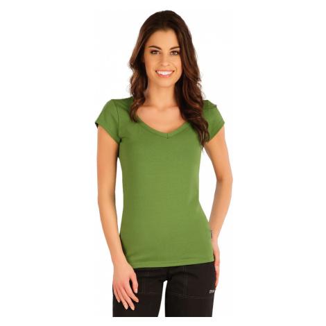 LITEX Tričko dámské s krátkým rukávem 5A359619 trávově zelená