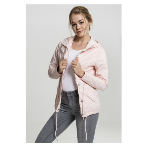 Urban Classics Ladies Basic Cotton Parka rose