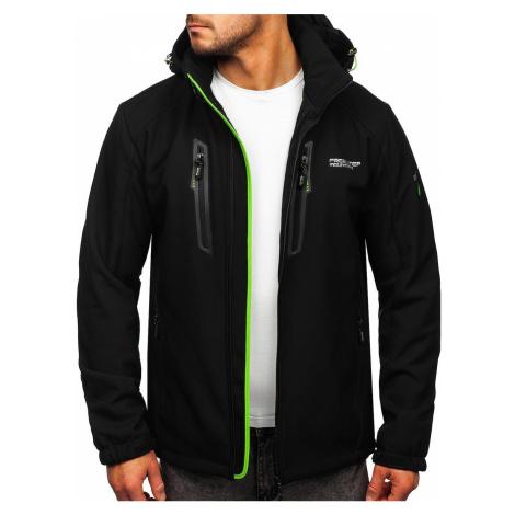 Černo-zelená pánská softshellová bunda Bolf HH059 FREESTEP