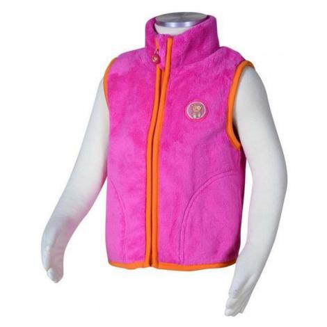 Růžová dívčí chlupatá vesta Carter Pidilidi
