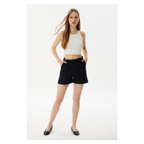 Trendyol Black Buckle Detailed Shorts & Bermuda