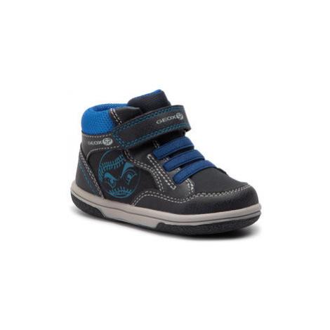 Geox Kotníková obuv B Flick B.A B9437A 0MEAF C4226 M Černá