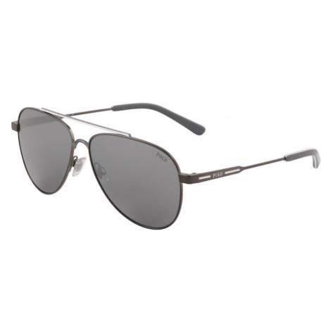 POLO RALPH LAUREN Sluneční brýle '0PH3126' šedá / stříbrná