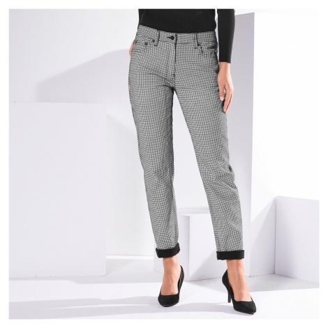 Blancheporte Girlfriend* kalhoty s potiskem černá/bílá