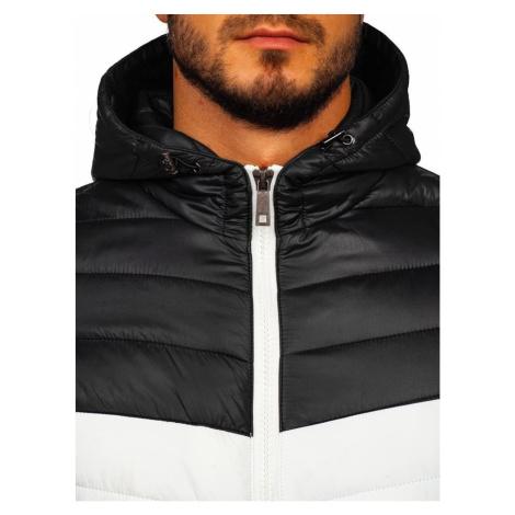 Pánská přechodná bunda s kapucí 5845 - černá, DStreet