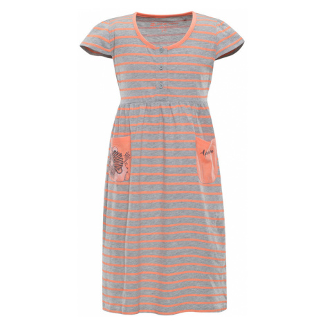 ALPINE PRO SARKO Dětské šaty KSKN048342PB sweet coral