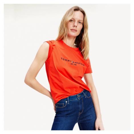 Tommy Hilfiger dámské oranžové triko
