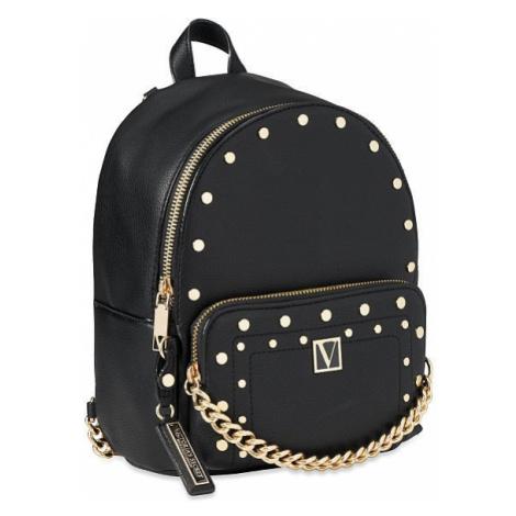 Victorias Secret luxusní černý batůžek Studded V-Quilt Small Backpack Victoria's Secret