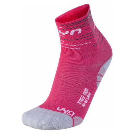 Ponožky UYN FREE RUN - růžová/bílá /42