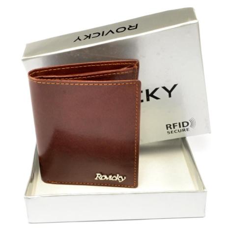 Malá pánská kožená peněženka Rovicky