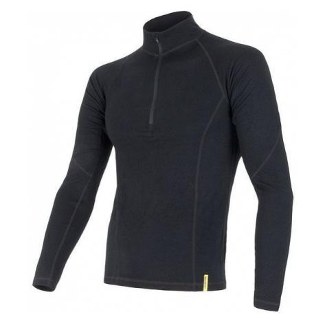 Pánské tričko SENSOR Merino DF dl. rukáv zip černá