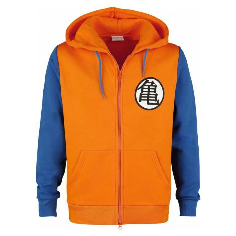 Dragon Ball Z - Cosplay mikina s kapucí na zip oranžová/modrá