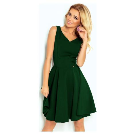 Zelené šaty s výstřihem do V ARIANNA 114-10 NUMOCO