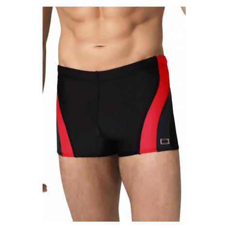 Pánské boxerkové plavky Philip2 černočervené Winner